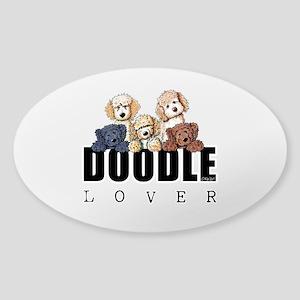 Doodle Lover Sticker (Oval)