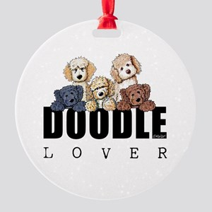 Doodle Lover Round Ornament