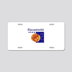 Thessaloniki City Flag Aluminum License Plate
