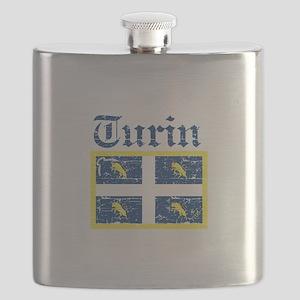 Turin City Flag Flask