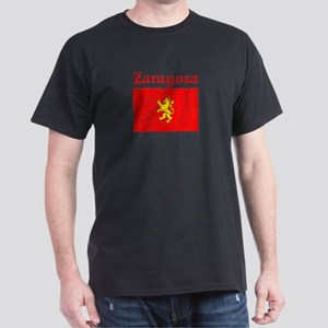Zaragoza City Flag Dark T-Shirt
