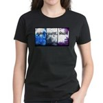 Women's Dark T-Shirt With Book Covers