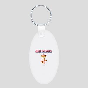 Barcelona designs Aluminum Oval Keychain
