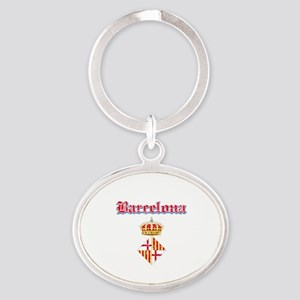 Barcelona designs Oval Keychain