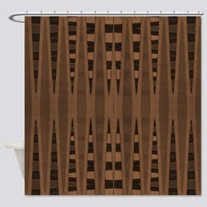 brown and black abstract Shower Curtain