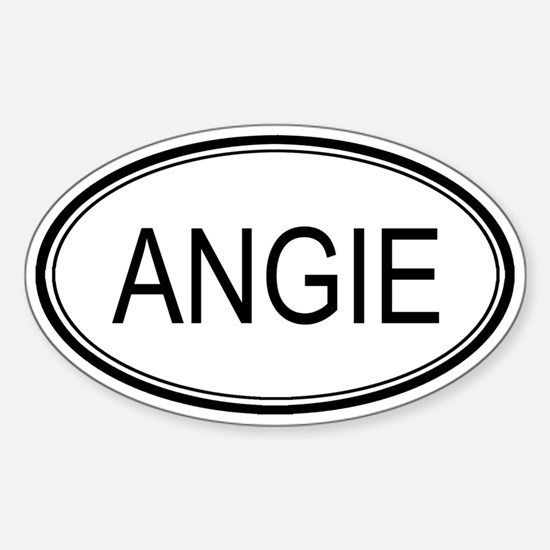 Angie Oval Design Oval Decal