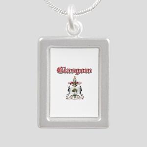 Glasgow designs Silver Portrait Necklace