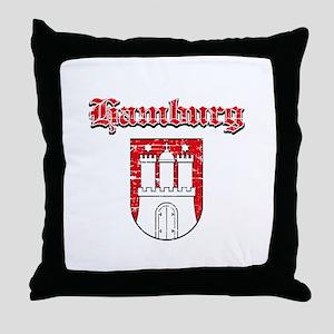 Hamburg designs Throw Pillow