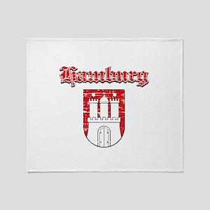 Hamburg designs Throw Blanket