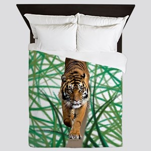 Tiger in the jungle Queen Duvet
