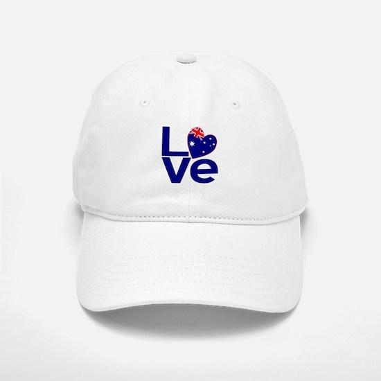 Blue Australian LOVE Baseball Baseball Baseball Cap