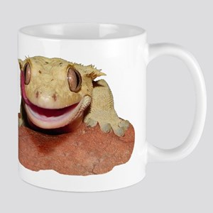 Crested Gecko smiling and licking Mugs