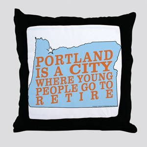 Portland is a City Throw Pillow