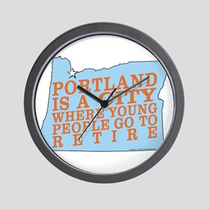 Portland is a City Wall Clock