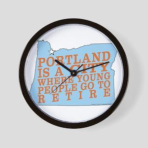Portland is a City Wall Clock