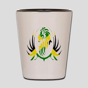Jamaican Lion Shot Glass