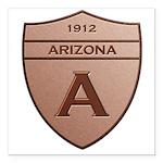 Copper Arizona 1912 Shield Square Car Magnet 3