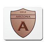 Copper Arizona 1912 Shield Mousepad