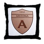 Copper Arizona 1912 Shield Throw Pillow