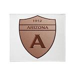 Copper Arizona 1912 Shield Throw Blanket