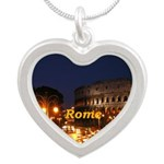 Rome Silver Heart Necklace