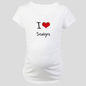 I Love Saniya Maternity T-Shirt