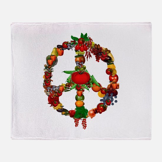 Veggie Peace Sign Throw Blanket