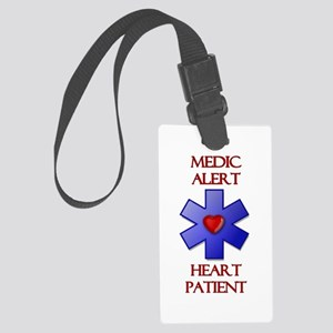 Medic Alert Heart Patient Large Luggage Tag
