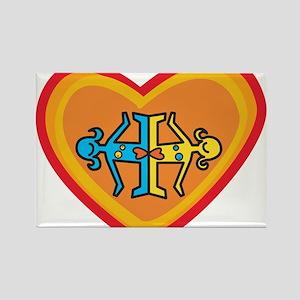 Girls heart Rectangle Magnet