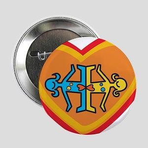 """Girls heart 2.25"""" Button"""