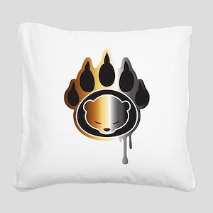 Bear footprint Square Canvas Pillow