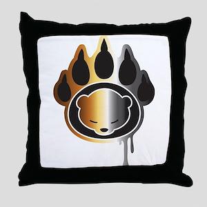 Bear footprint Throw Pillow