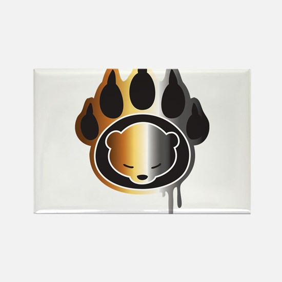 Bear footprint Rectangle Magnet