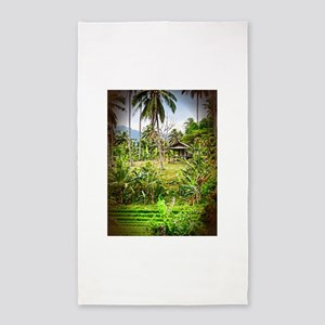balinese farm 3'x5' Area Rug