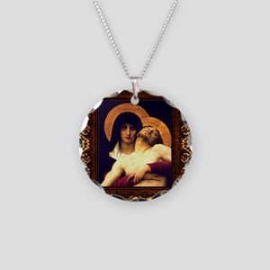 Mother & Son Necklace Circle Charm