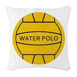 Water Polo Ball Woven Throw Pillow