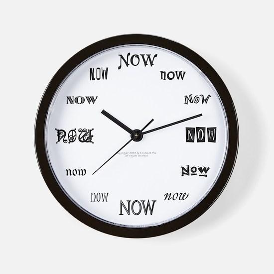 NOW Wall Clock (B/W)
