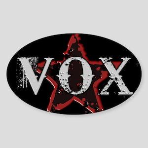 The VoxStars RedStar Sticker (Oval)
