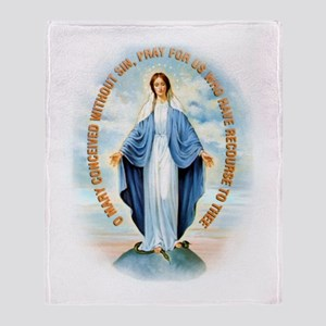 Miraculous Medal Throw Blanket