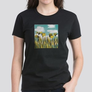 Hummingbirds + Daffodils - Women's Dark T-Shirt
