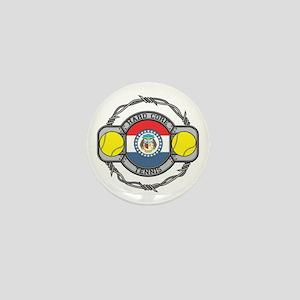 Missouri Tennis Mini Button