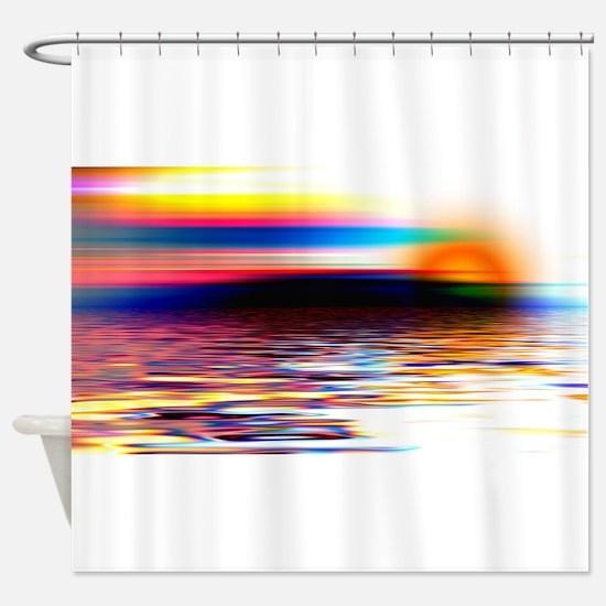 Abstract Horizon Shower Curtain