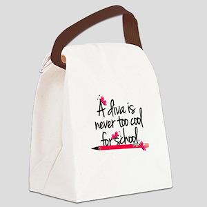 School Diva Canvas Lunch Bag