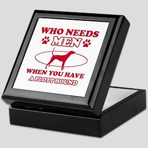 Funny Plott Hound lover designs Keepsake Box