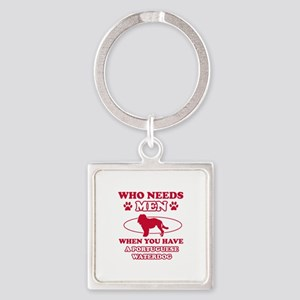 Funny Portuguese Water Dog lover design Square Key