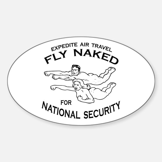 Fly Naked Oval Decal
