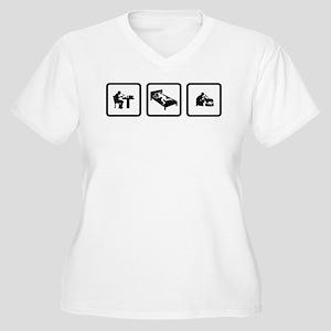 Dog Bathing Women's Plus Size V-Neck T-Shirt