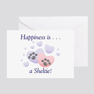 Happiness is...a Sheltie Greeting Cards (Package o