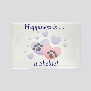 Happiness is...a Sheltie Rectangle Magnet