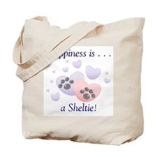Happiness is...a Sheltie Tote Bag